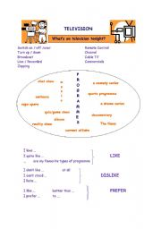 English Worksheets: What�s on today?