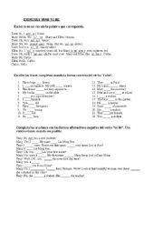 English Worksheets: ejercitacion