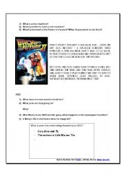 Back to the Future Part II worksheet