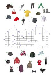 English Worksheet: Crosswords - clothes
