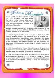English Worksheets: Reading - Nelson Mandela
