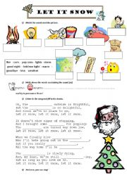 English Worksheets: Let it snow