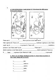 English Worksheets: Differences Between the Pictures