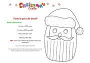 Christmas craft 2 - Santa´s Curly Beard