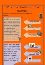 English worksheet: What´s behind the words?