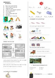 English Worksheets: IMPERAT�VES THERE�S THEREARI