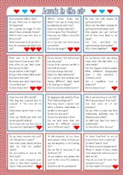 English Worksheet: Love�s in the air: conversation cards ***editable