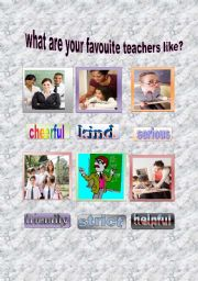 English Worksheets: what are my favourite teachers like?
