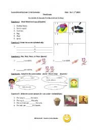 English Worksheets: Action Pack 3 Exam/First semester