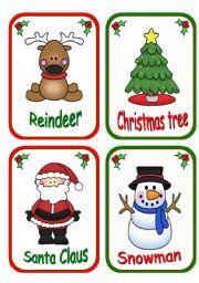 English Worksheets: Christmas flashcards (reedit)