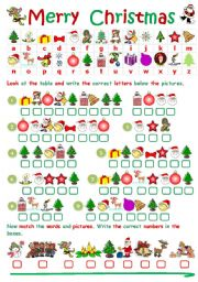 English Worksheet: CHRISTMAS CRYPTOGRAM