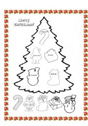 christmas tree - worksheet by adriana lópez