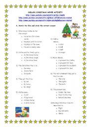 English Worksheets: Christmas movie activity