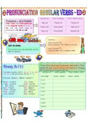 English Worksheet: PRONUNCIATION REGULAR VERBS -ED