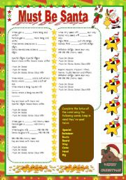 English Worksheets: Must be Santa