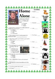 English Worksheets: Home Alone