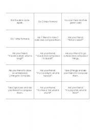 English Worksheet: monopoly cards