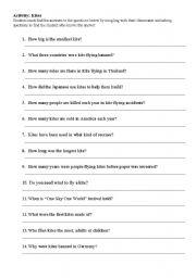 English Worksheets: Kites (Mingling Exercise)