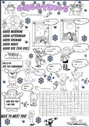 Greetings worksheet esl worksheet by evelinamaria english worksheet greetings m4hsunfo