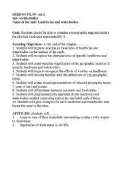 English Worksheet: vocabulary landforms and waterbodies