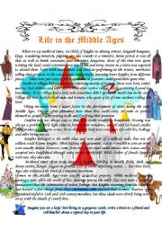 English Worksheet: Life in the Middle Ages