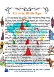 life in the middle ages esl worksheet by vale a. Black Bedroom Furniture Sets. Home Design Ideas