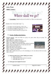 English Worksheets: where shall we go???