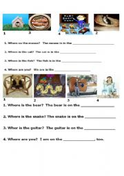 English Worksheets: find the rhyme and complete the sentence