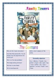 Video time! FAWLTY TOWERS - The Germans (7 tasks, 3 pages, comprehensive KEY)