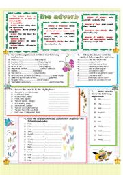 English Worksheets: The adverb