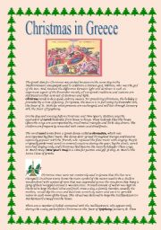 English Worksheet: Christmas in Greece
