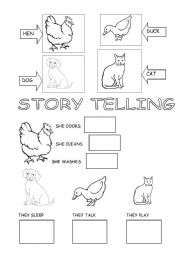 Reading worksheets > Tales and stories > Little Red Hen