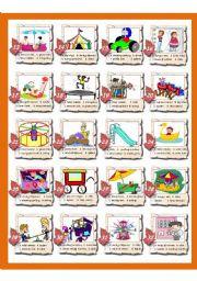 English Worksheets: At the Fairground Part 2