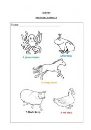 English Worksheets: Painting Animals