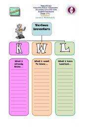 English Worksheets: KWL part1