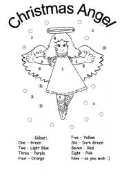 english worksheet christmas colouring