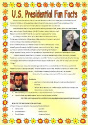 English Worksheets: US Presidential Fun Facts