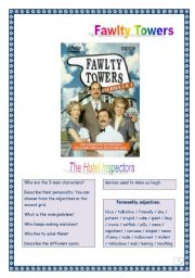 Video time! FAWLTY TOWERS - The Hotel Inspectors (6 tasks, 3 pages, Comprehensive KEY)