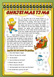 English Worksheet: THE SIMPSONS AND CHRISTMAS
