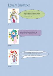 English worksheet: Lovely Snowmen