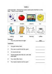 English Worksheet: MOVERS Exam CAMBRIDGE YLE (set 1)