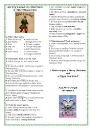 English Worksheets: A Christmas Carol from the Movie Mickey´s Magical Christmas