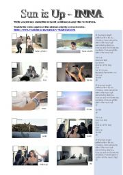 English Worksheet: sun is up - a present continuous song