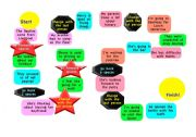 English Worksheets: Question forming borad game preposition at the end