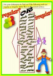 English Worksheet: VERBS: REGULAR & IRREGULAR