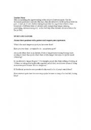 English Worksheet: Extreme sports, speaking and reading