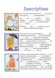 Worksheets Show Don T Tell Worksheets english teaching worksheets reading comprehension three descriptions