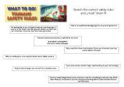 English Worksheet: Tsunami - safety rules