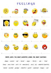 FEELINGS (emoticons)
