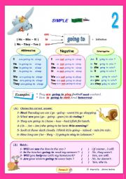 English Worksheet: Future simple with (going to).